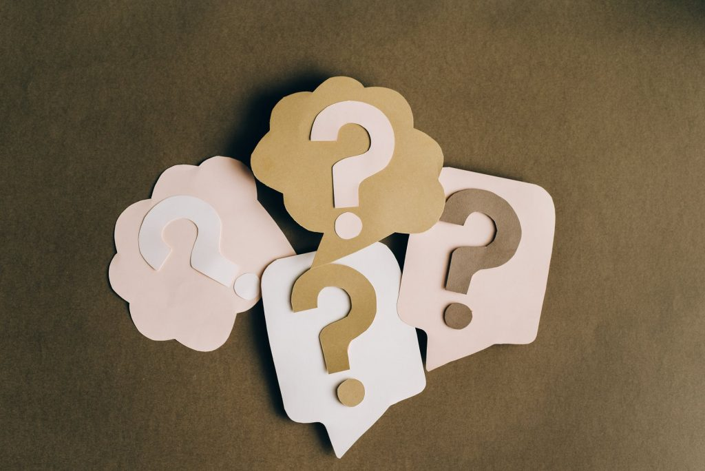 question marks on paper crafts